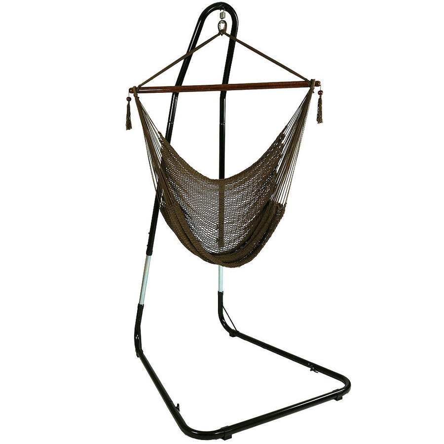 Mocha Hammock Chair on Stand