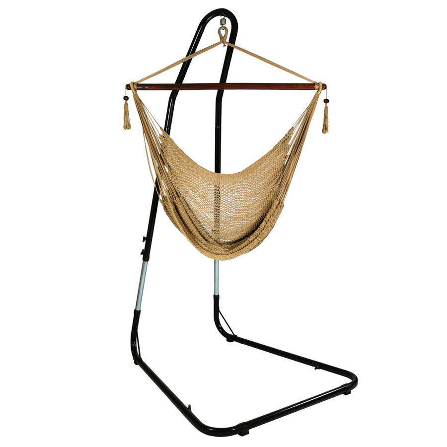Tan Hammock Chair on Stand