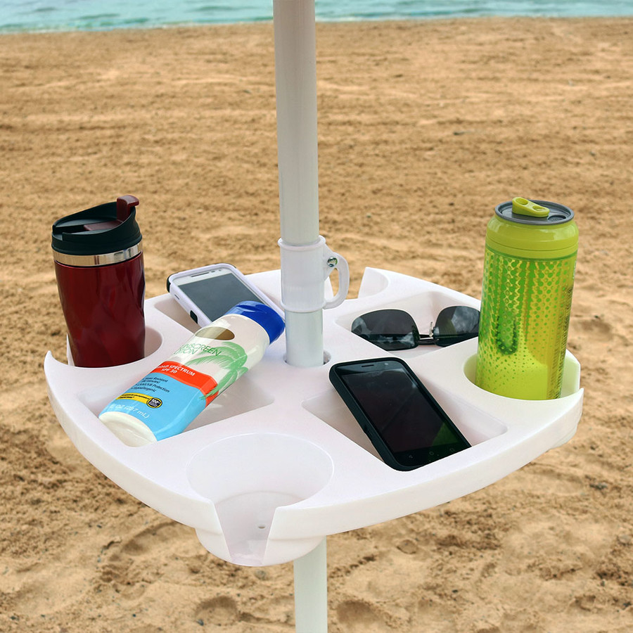 Sunnydaze Beach Umbrella Table