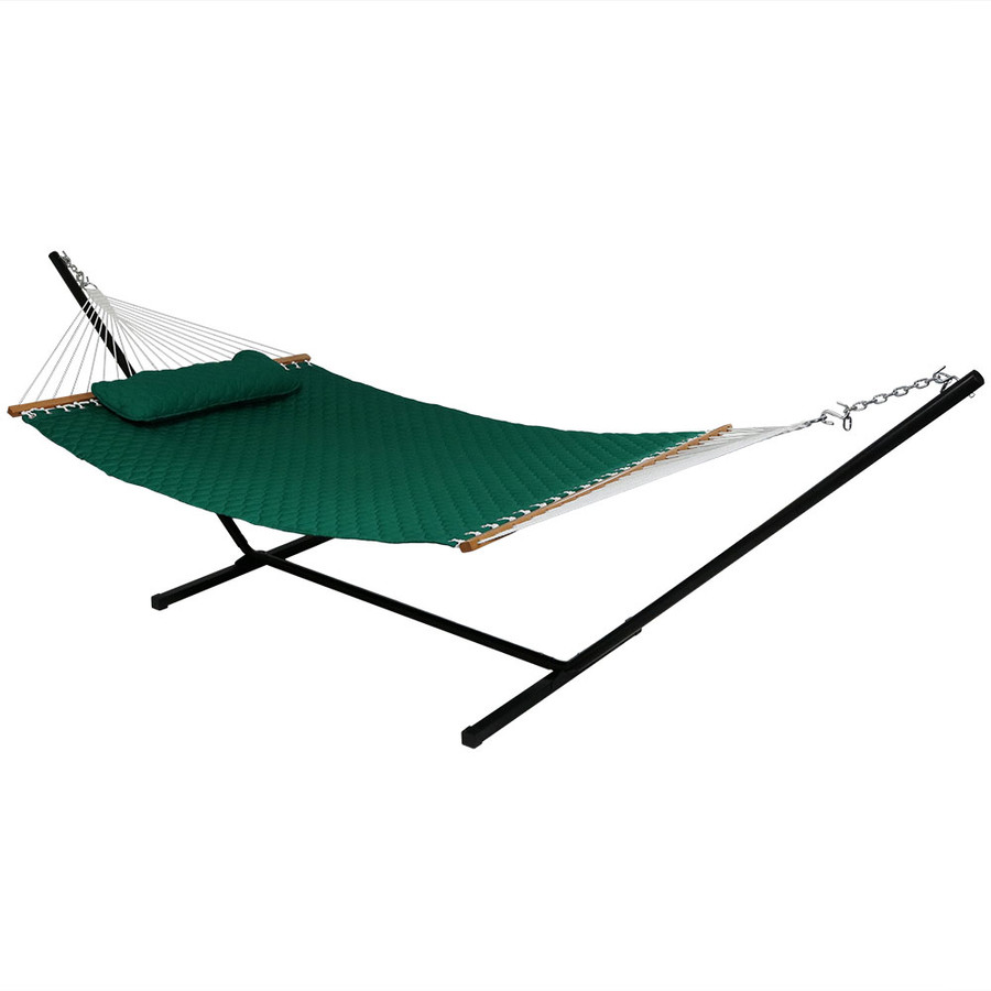 Green Hammock on Stand