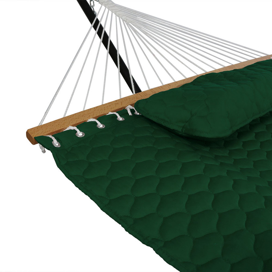 Green Pillow and Spreader Bar