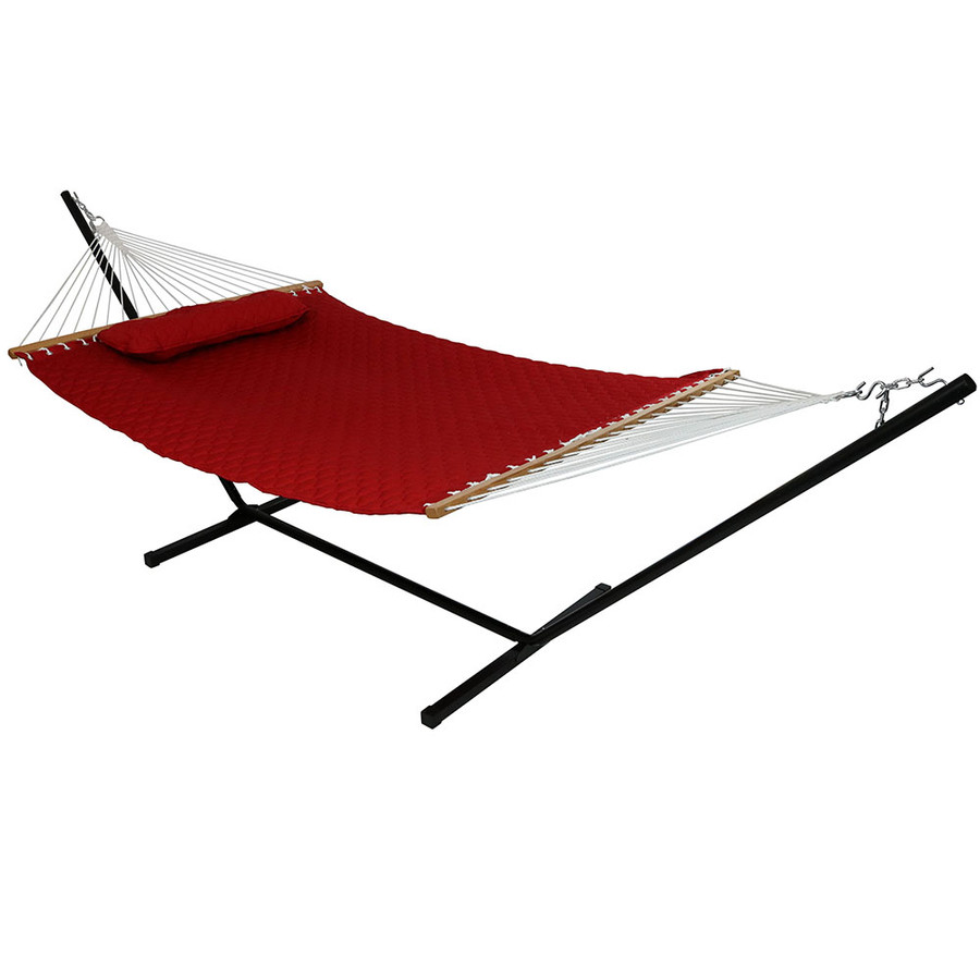 Red Hammock on Stand