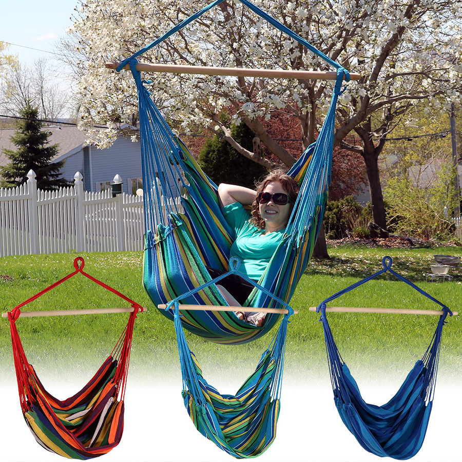 Sunnydaze Jumbo Extra Large Hammock Chair Swing, for Outdoor Use