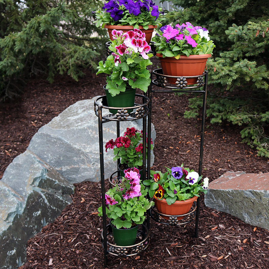 6-Tier Plant Stand Outdoors