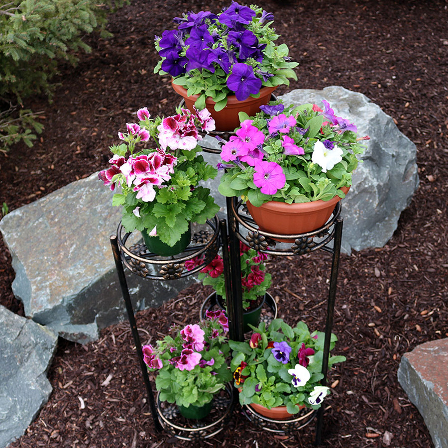 6-Tier Plant Stand Outdoor Top View