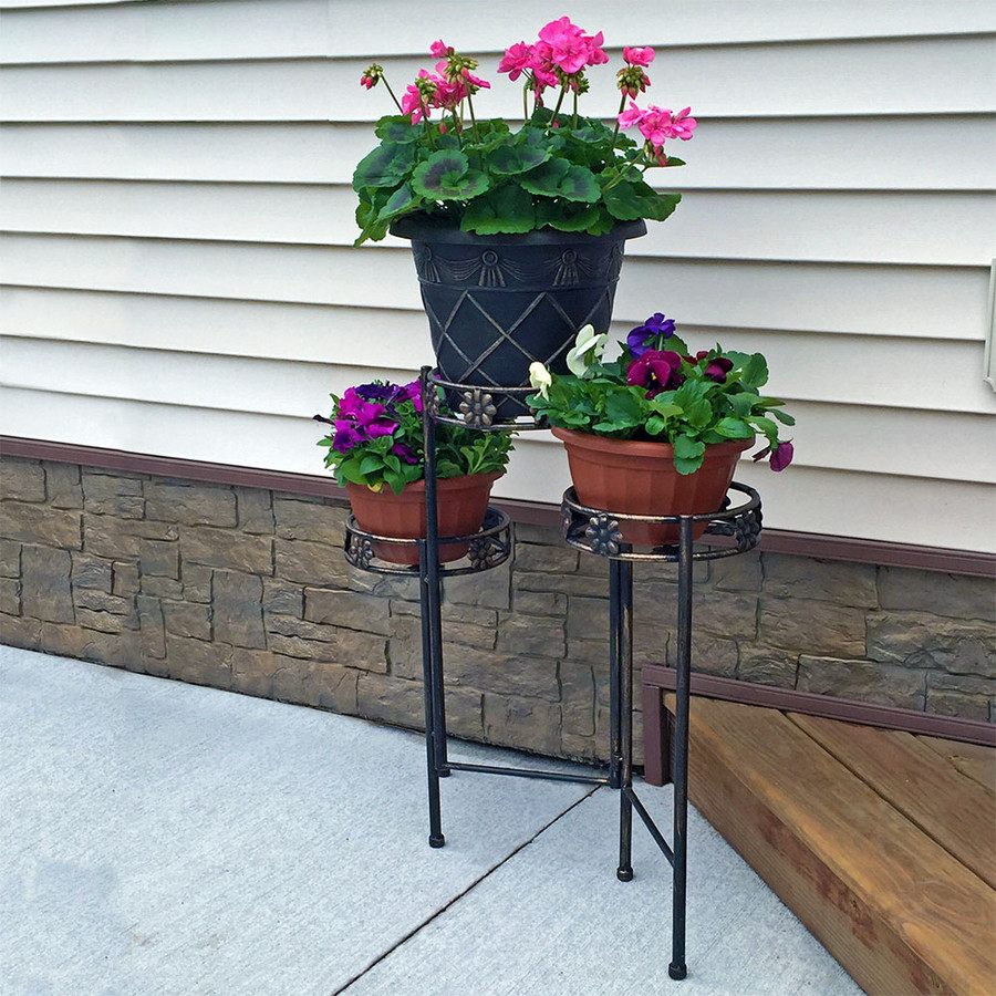 3-Tier Plant Stand on Patio