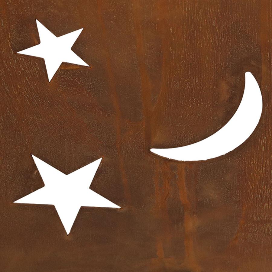 Stars and Moon Cutout Closeup