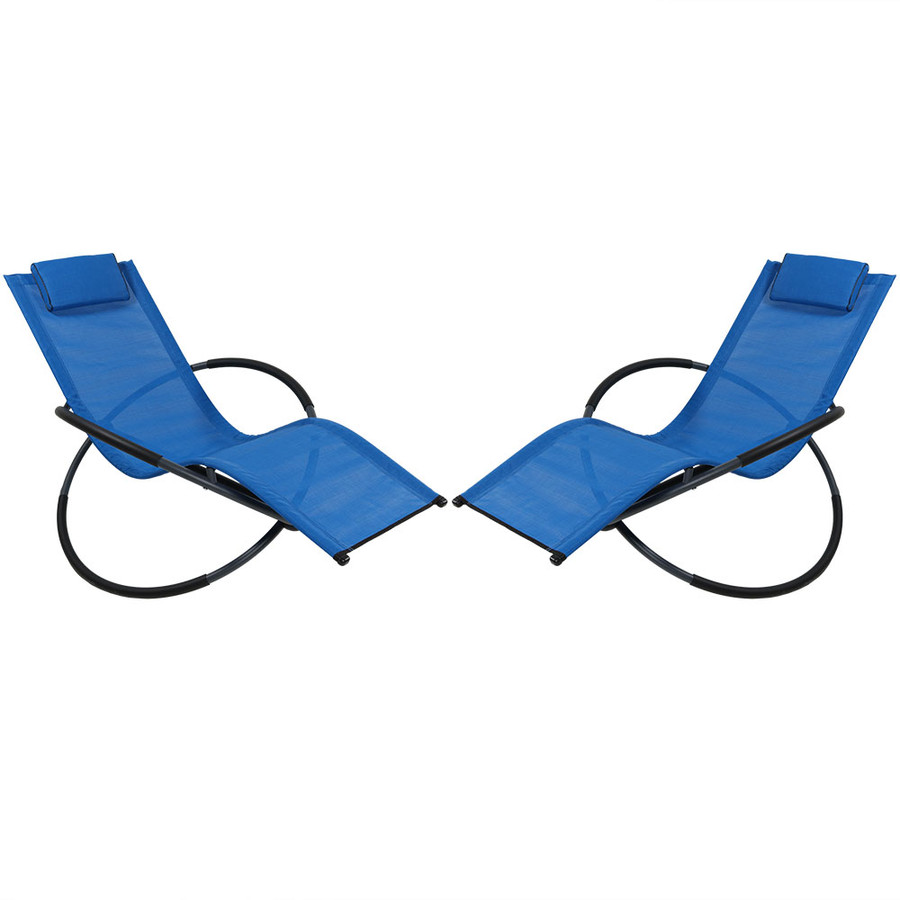 Sunnydaze Orbital Folding Zero Gravity Lounger w/ Pillow