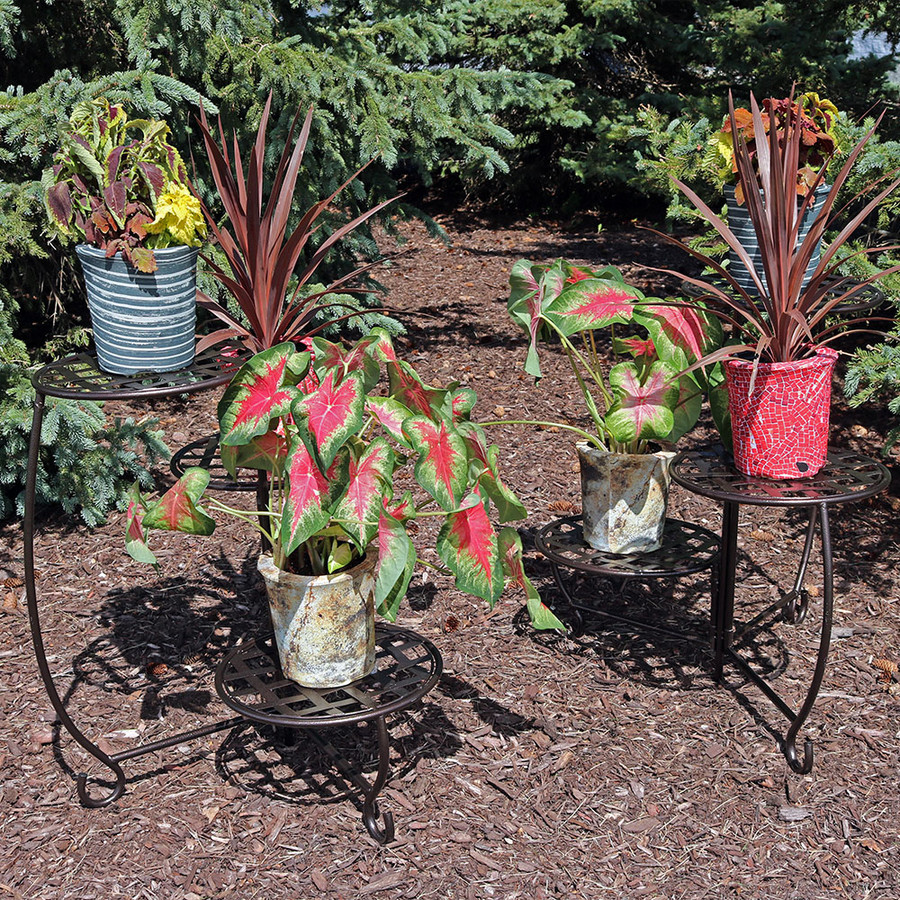 Full View of 2 Plant Stands, Outdoors