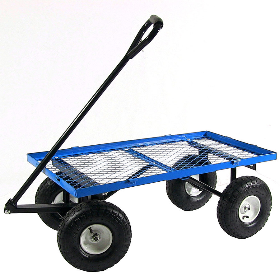 Blue Cart with All Sides Removed