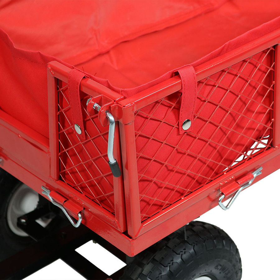 Red Cart and Liner Closeup