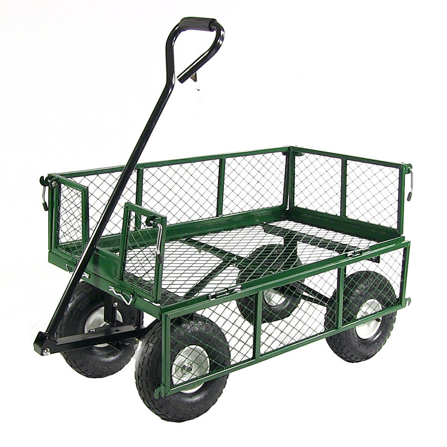Green Cart with One Side Folded Down