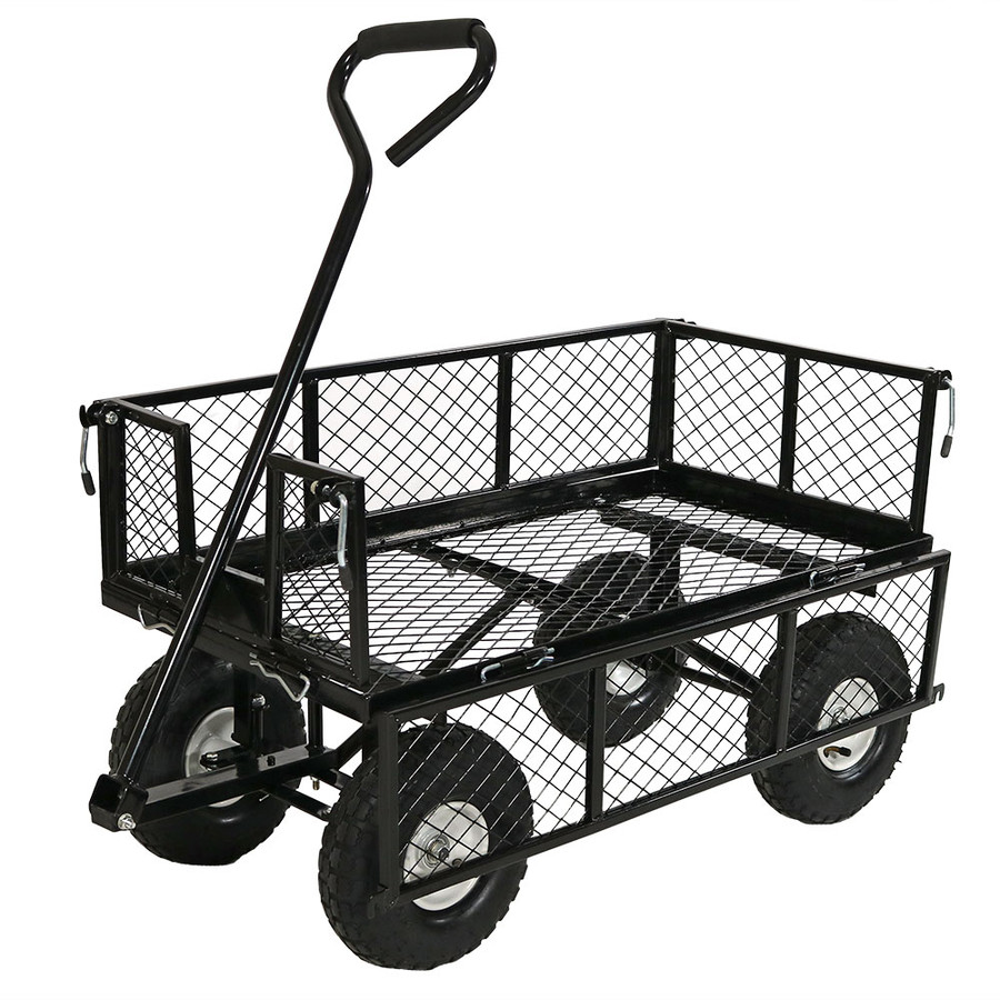 Black Cart with One Side Folded Down