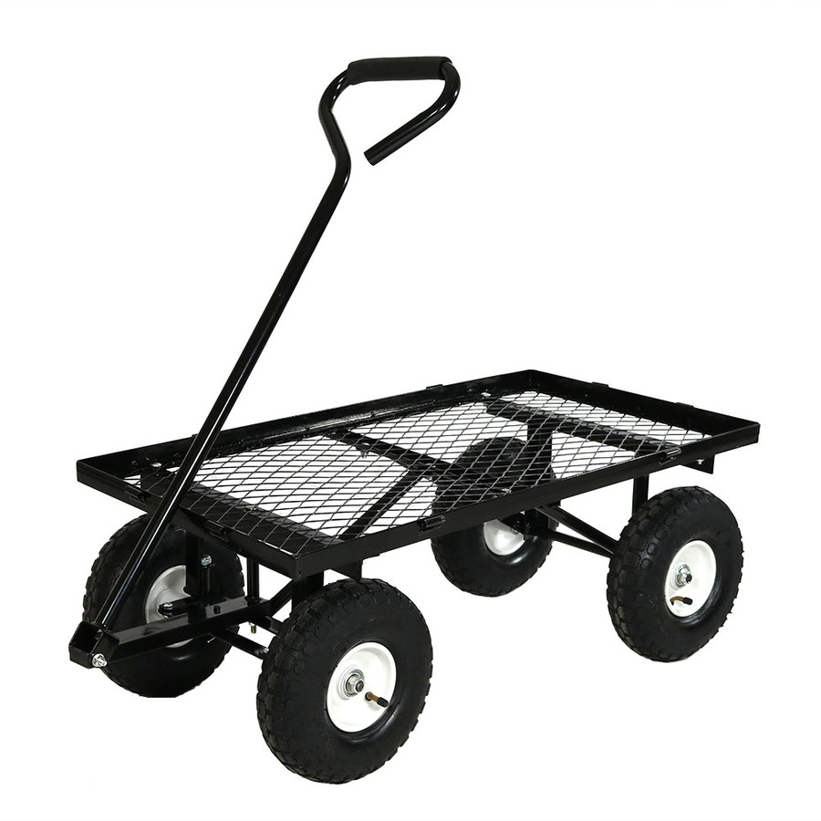 Black Cart with All Sides Removed