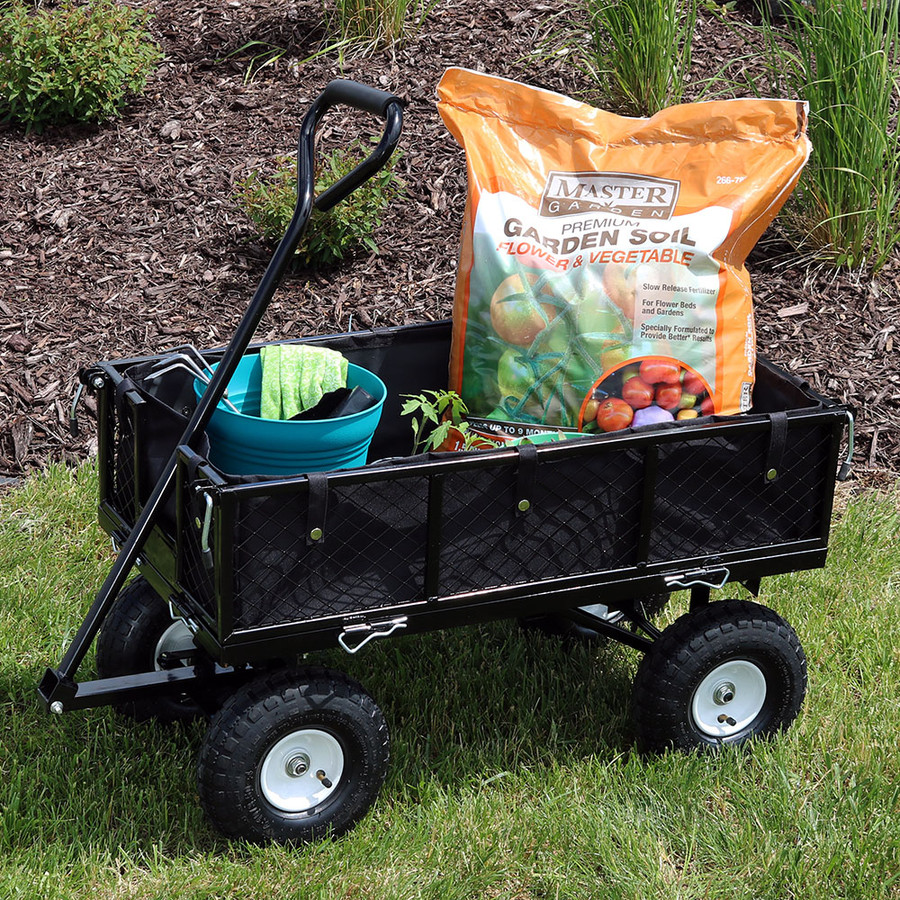 Black Cart and Liner Outdoor