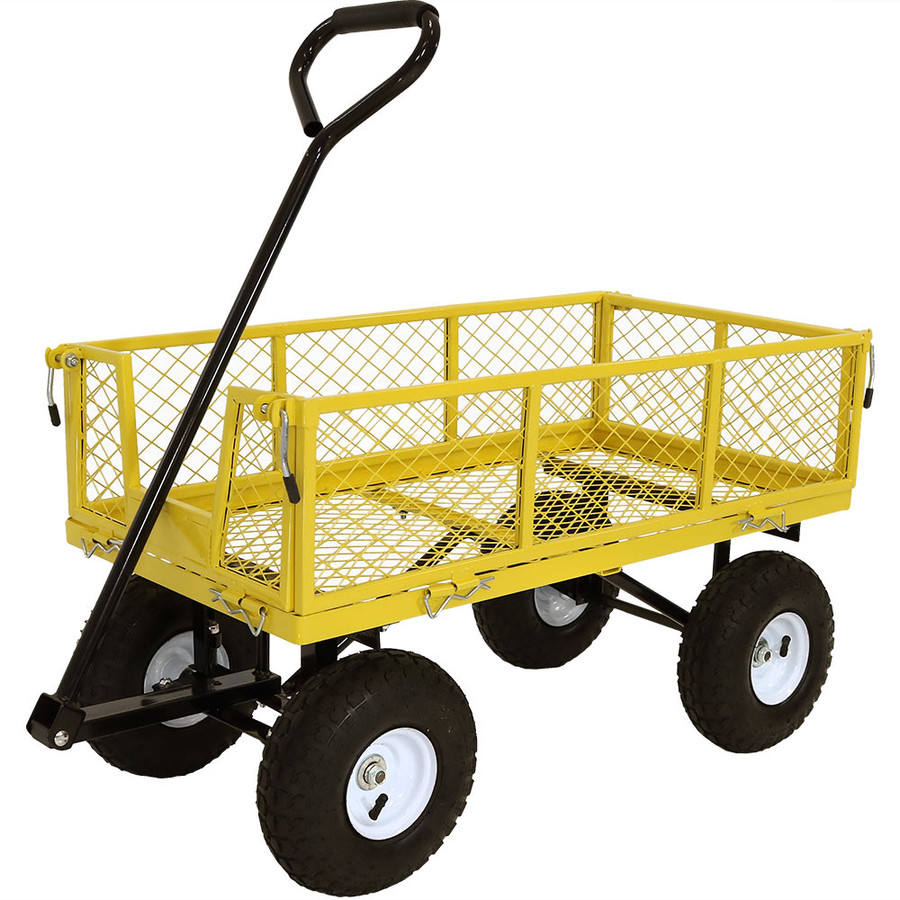 Yellow Cart without Liner Attached