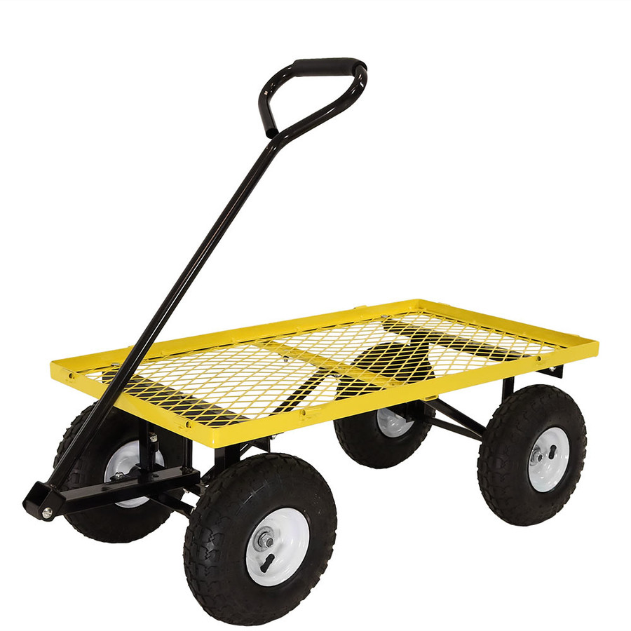 Yellow Cart with All Sides Removed