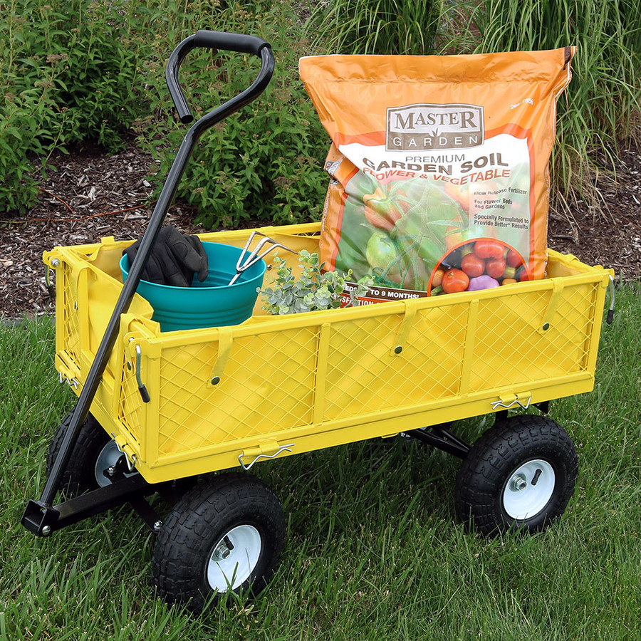 Yellow Cart with Liner Outdoor