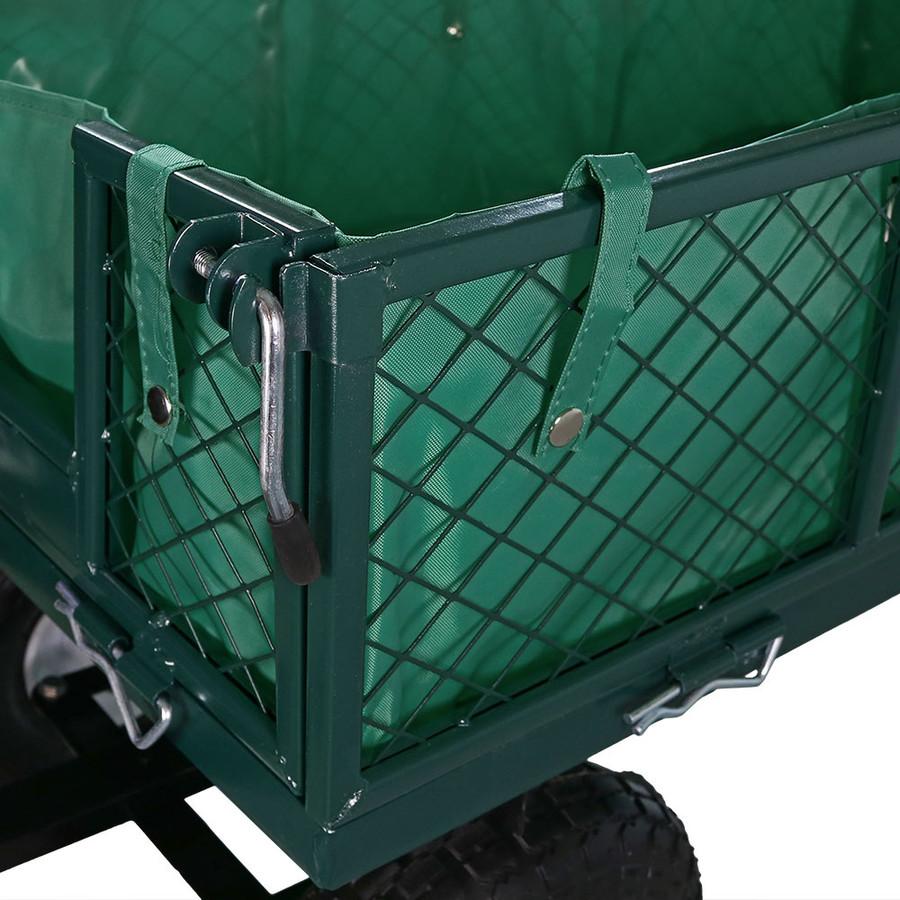 Green Cart and Liner Closeup