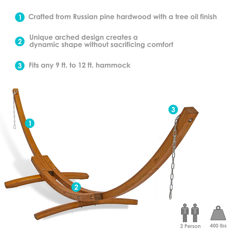 Infographic for 13' Wooden Hammock Stand