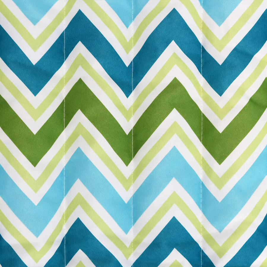 Blue & Green Chevron Swatch