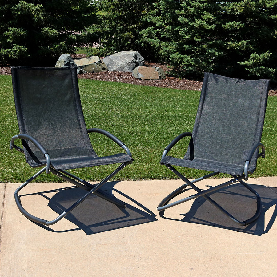 Black Folding Rockers, set of 2