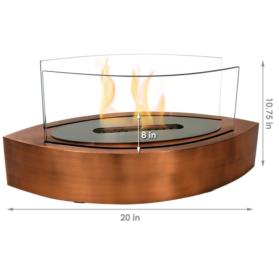 Dimensions of Copper Fireplace