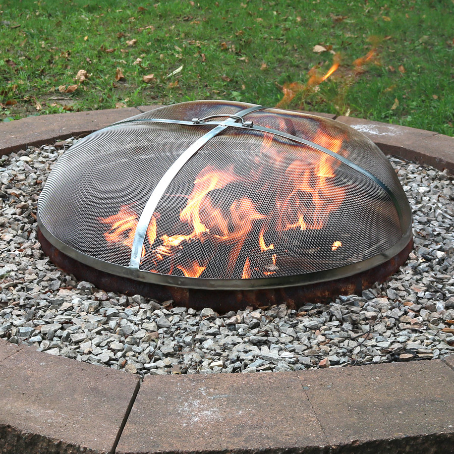 Sunnydaze Stainless Steel Fire Pit Spark Screen