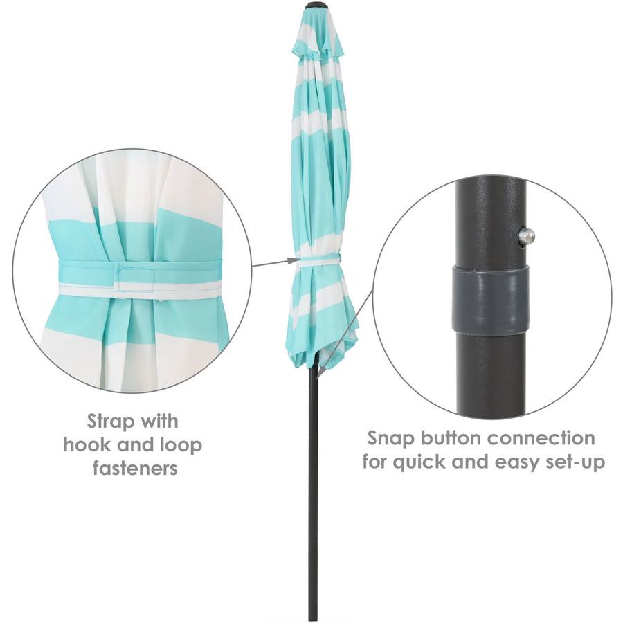 Teal Stripe Folded Info