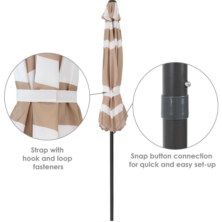Beige Stripe Folded Info