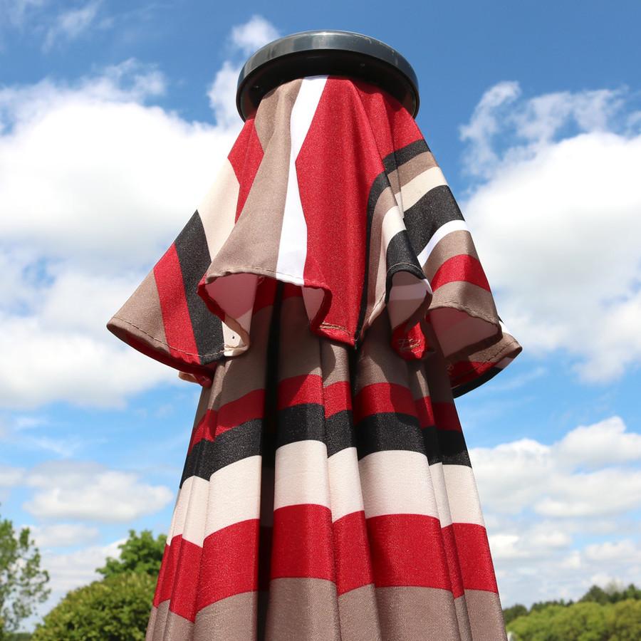 Awning Stripe Folded Closeup