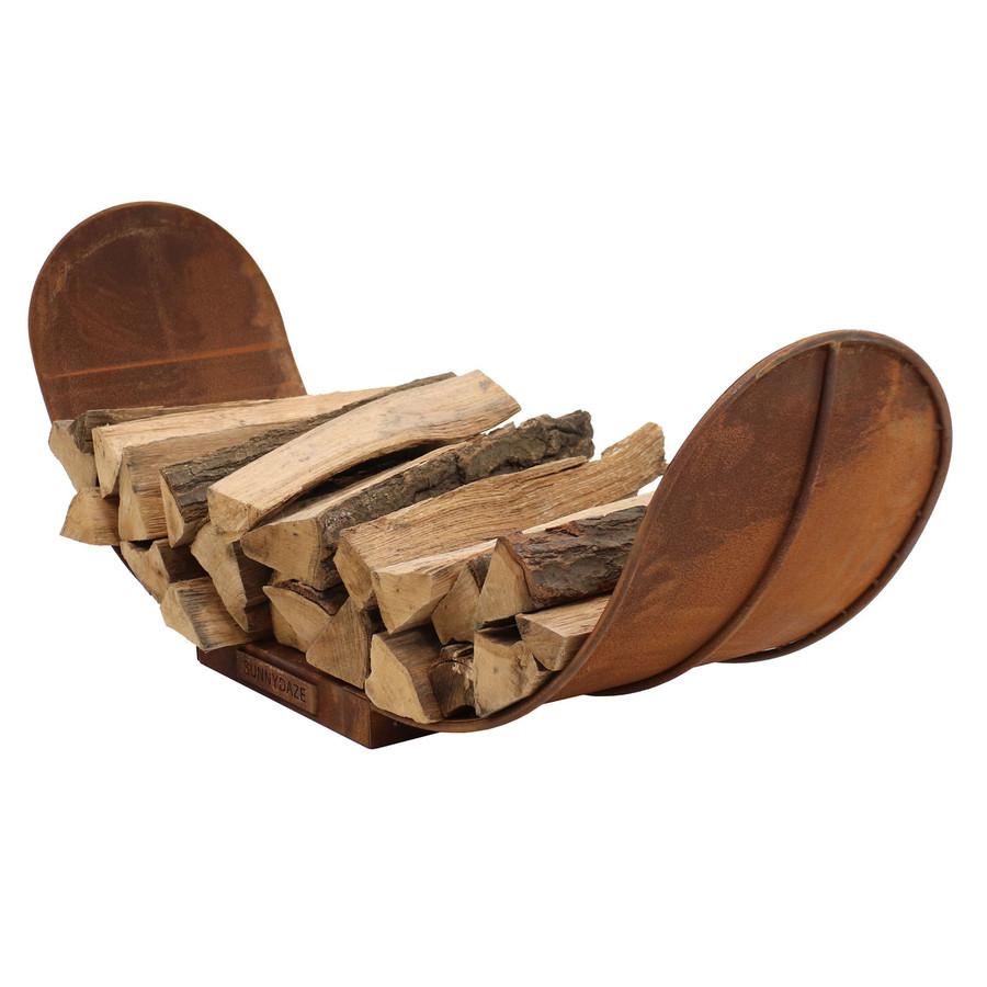 4' Rustic Outdoor Firewood Log Rack