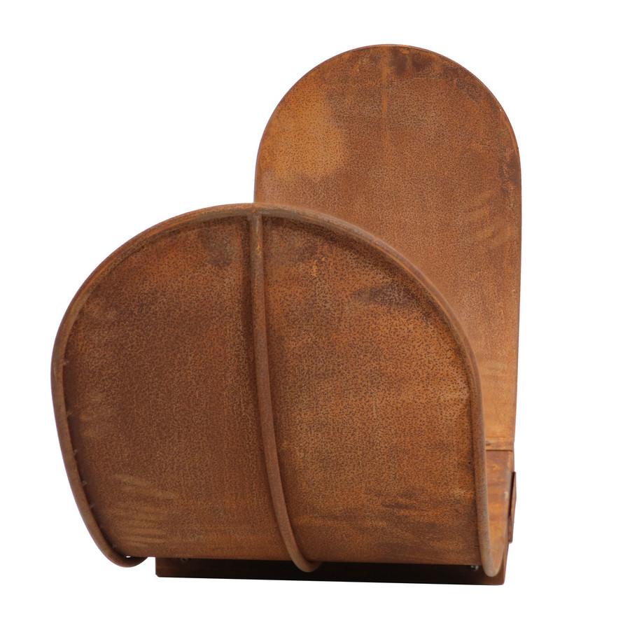 Side View of 4' Rustic Outdoor Firewood Log Rack
