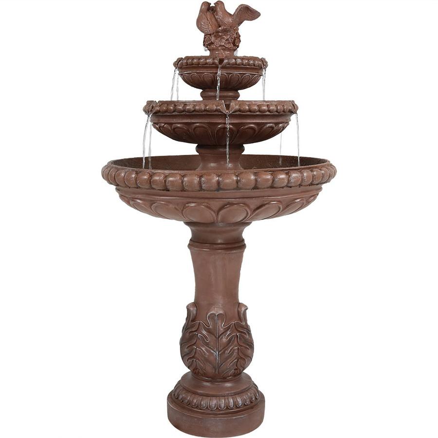 3-Tier Dove Pair Outdoor Water Fountain
