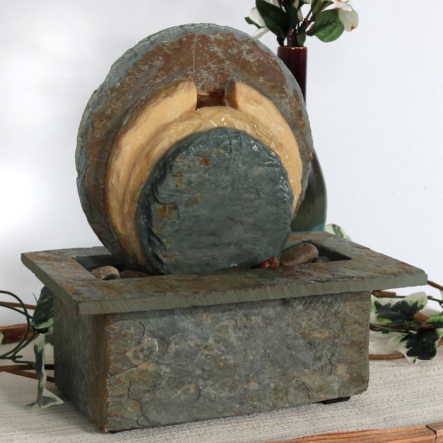 Flowing Rock Indoor Slate Tabletop Fountain