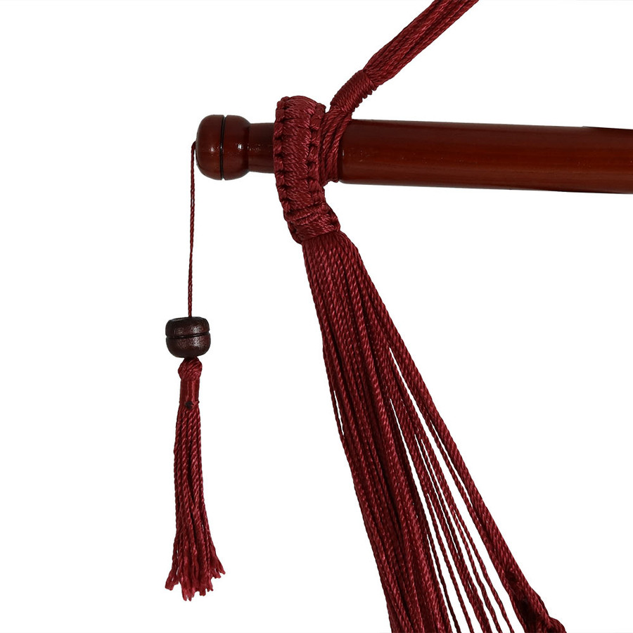 Red Spreader Bar/Tassel Closeup
