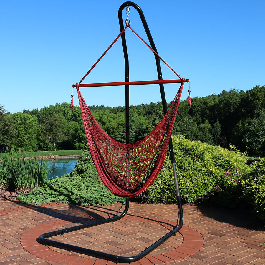 Red Chair with Stand Outdoors