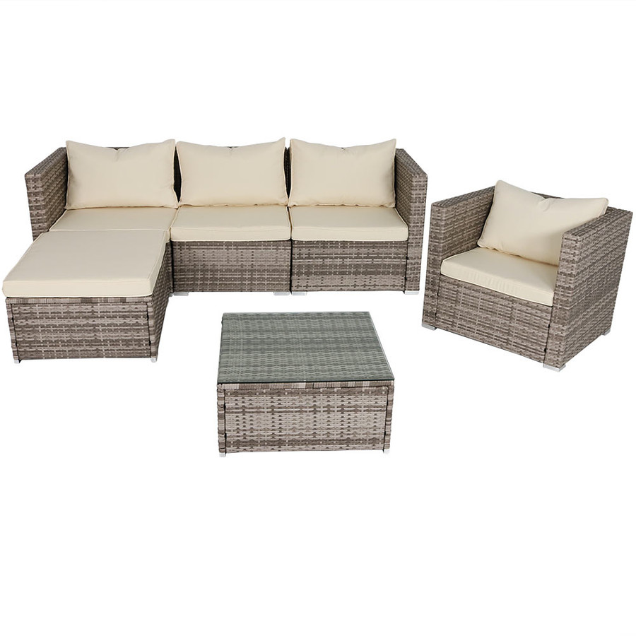 Boa Vista Wicker Rattan 6-Piece Sofa Patio Furniture Set