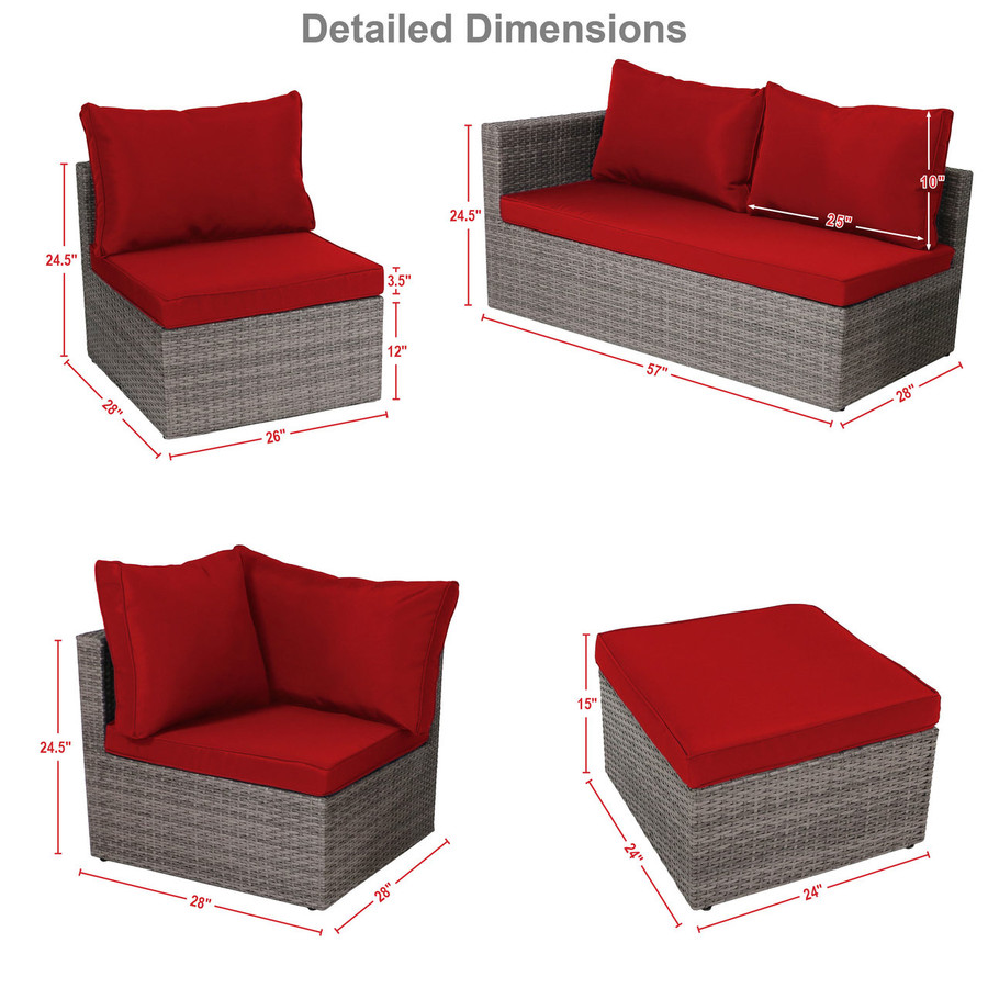 Red Detailed Dimensions