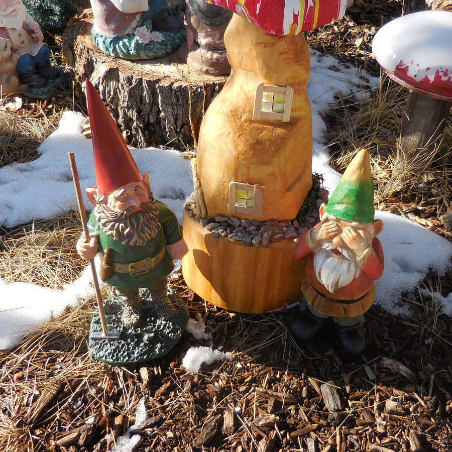 Steven Sees No Evil Garden Gnome, Customer-Submitted Photo
