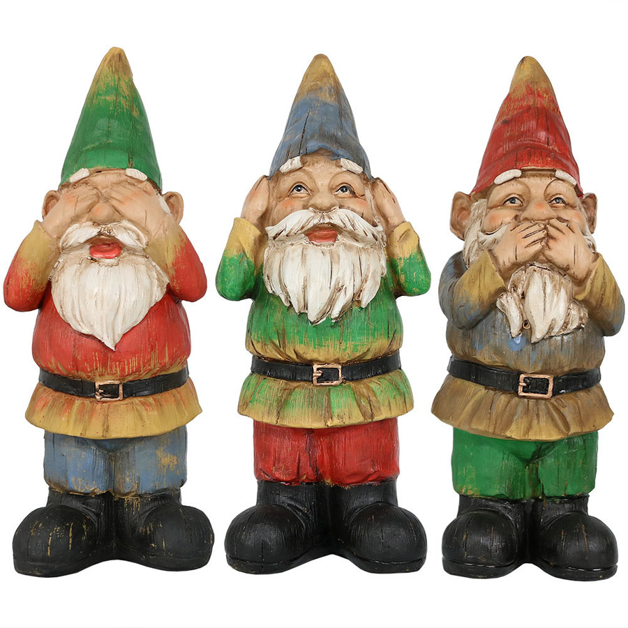 Three Gnomes, Front View