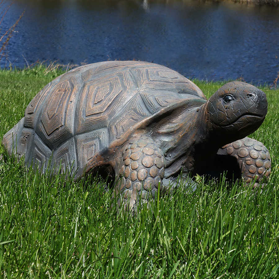Sunnydaze Tanya the Tortoise Indoor/Outdoor Statue, 20 Inch Long