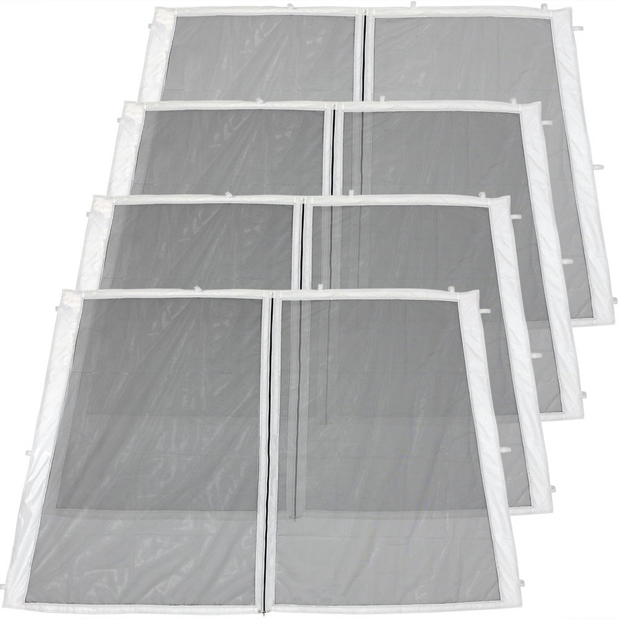 4-Panel-8 Foot Slant Leg Zippered Mesh Kit