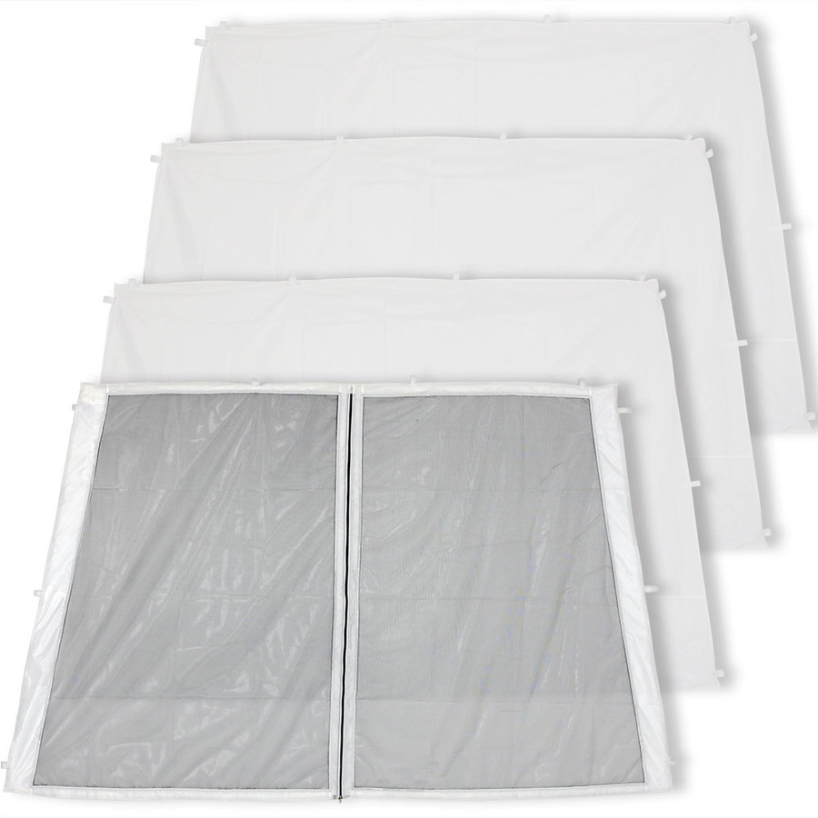 3 Solid/1 Zippered Mesh-8-Foot Slant Leg Kit