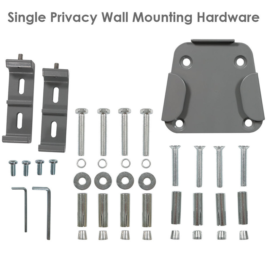 Single Privacy Wall Hardware