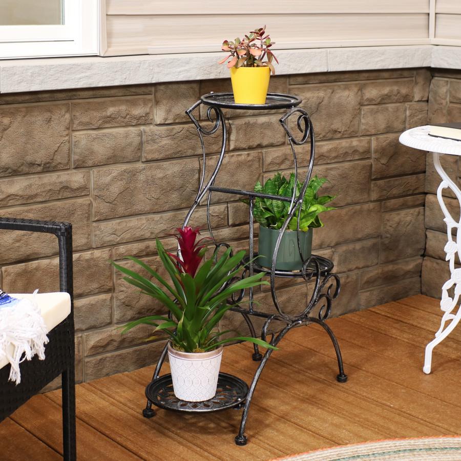 3-Tier Victorian Indoor/Outdoor Plant and Flower Stand, Indoors