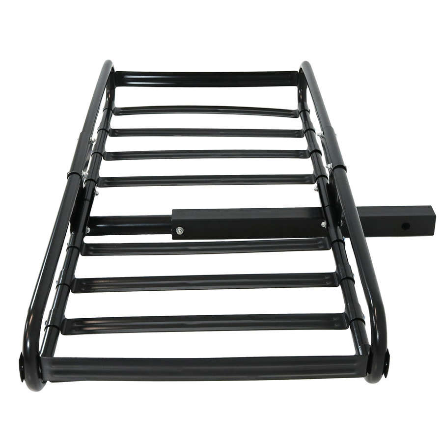 Sunnydaze Basket Style Heavy-Duty Steel Hitch-Mounted Cargo Carrier Rack with Sides and 2-Inch Receiver