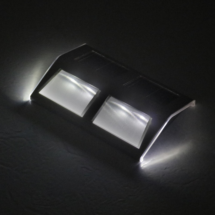 Stainless Steel Mounted Solar LED Light at Night