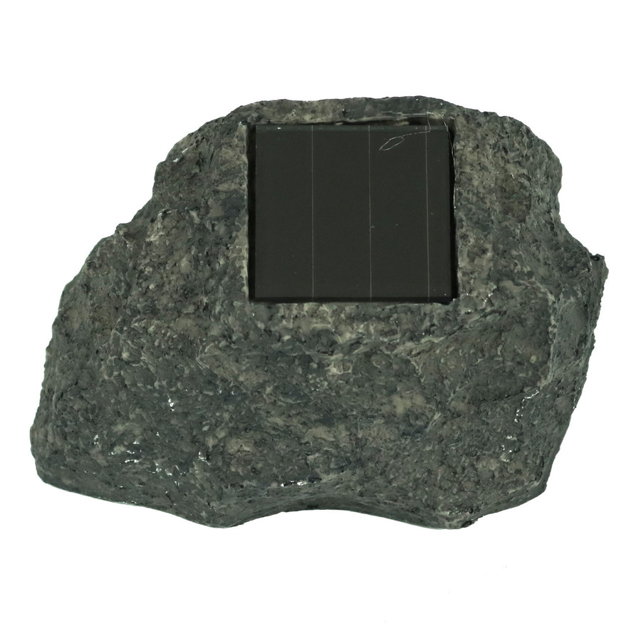 Rock With White Solar LED Light, Built-in Solar Panel