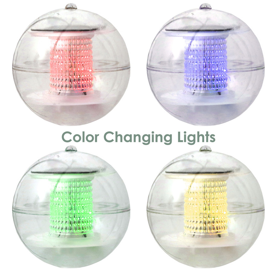 Solar LED Light Floating Ball - Set of 4
